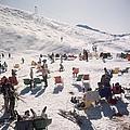 Skiers At Verbier by Slim Aarons