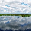 Skyscape Reflections Blue Cypress Marsh Near Vero Beach Florida C6 by Ricardos Creations