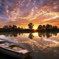 Sunset Boat by Dawn Van Doorn