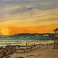 Sunset On Bradenton Beach, Fl. by Mike King