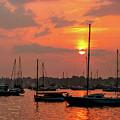 Sunset On Salem Harbor by Jeff Folger