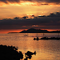 Sunset Over Maunalua Bay by Charmian Vistaunet