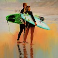 Surfer Couple by Alice Gipson