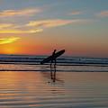 Surfing Sunset  by Roman Gomez