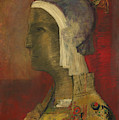 Symbolic Head, 1890 by Odilon Redon