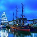 Tall Ships On Boston Harbor by Joann Vitali