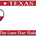 Texas State License Plate by Bigalbaloo Stock