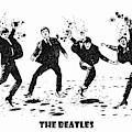 The Beatles Black And White Watercolor 01 by JESP Art and Decor