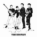 The Beatles Black And White Watercolor 02 by JESP Art and Decor