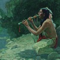 The Call Of The Flute by Eanger Irving Couse