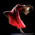 The Dancer On Black Background by Proxyminder