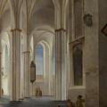 The Interior Of The Buurkerk At Utrecht  by Pieter Saenredam