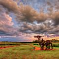 Majestic Iron Horse Sunset 8 U G A Iron Horse Farm Landscape Art by Reid Callaway