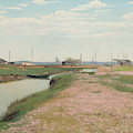 The River And The Harbour At Frederiksvaerk by Laurits Andersen Ring