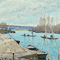 The Seine At Port-marly, Piles Of Sand by Alfred Sisley