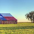 The Texas Flag Barn by JC Findley