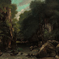 The Valley Of Les Puits-noir by Gustave Courbet