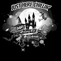 tshirt Just Here Chillin grayscale by Kaylin Watchorn