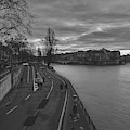 Walking Along The Seine At Sunset by Pixabay