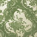 Wallpaper Sample, Vintage Textile Pattern by English School