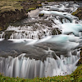 Waterfalls-iceland. by Usha Peddamatham