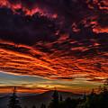 West Virginia Mountain Sunrise by Thomas R Fletcher