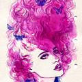 Woman Face. Hand Painted Fashion by Anna Ismagilova