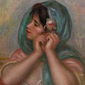 Young Woman Arranging Her Earring, 1905 by Pierre Auguste Renoir