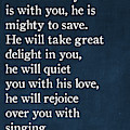 Zephaniah 3 17- Inspirational Quotes Wall Art Collection by Mark Lawrence
