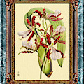Vintage Orchid Antique Design Marble Blue-green  by Baptiste Posters