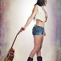 113.1855 Guitar Model Color Art Photograph by M K Miller