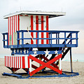 13th Street Lifeguard Tower - Miami Beach by Art Block Collections