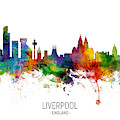 Liverpool England Skyline by Michael Tompsett