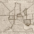 1860 City Planner Map Of Baltimore Maryland Sepia by Toby McGuire