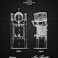 1876 Brewing Cooler - Black Blueprint by Aged Pixel