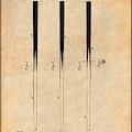 1879 Billiard Cue Antique Paper Patent Print by Greg Edwards