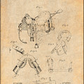 1880 Military Saddle Patent Print Antique Paper by Greg Edwards