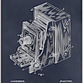 1887 Blair Photographic Camera Blackboard Patent Print by Greg Edwards