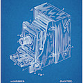 1887 Blair Photographic Camera Blueprint Patent Print by Greg Edwards