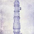 1889 Fire Hydrant Patent Blueprint by Jon Neidert