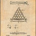 1891 Billiard Ball Rack Patent Print Antique Paper by Greg Edwards