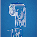 1891 Toilet Paper Roll Blueprint Patent Print by Greg Edwards