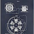 1896 Tesla Alternating Motor Blackboard Patent Print by Greg Edwards