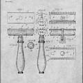 1901 Gillette Safety Razor Gray Patent Print by Greg Edwards