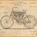 1901 Stratton Motorcycle Antique Paper Patent Print by Greg Edwards
