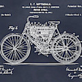 1901 Stratton Motorcycle Blackboard Patent Print by Greg Edwards