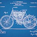 1901 Stratton Motorcycle Blueprint Patent Print by Greg Edwards