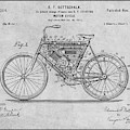 1901 Stratton Motorcycle Gray Patent Print by Greg Edwards