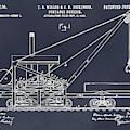1903 Railroad Derrick Blackboard Patent Print by Greg Edwards