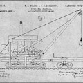1903 Railroad Derrick Gray Patent Print by Greg Edwards